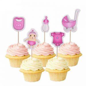 Dekoracija za kolače - 20 komada - rozi