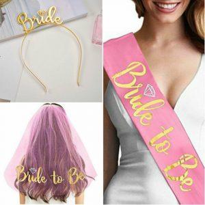 Set za djevojačku Bride to be - Pink