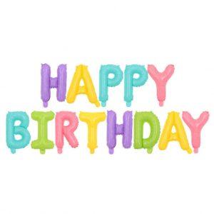 happy birthday baloni od folije