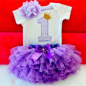 Komplet za 1. rođendan - One Purple