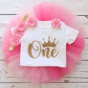 Komplet za 1. rođendan - One Pink